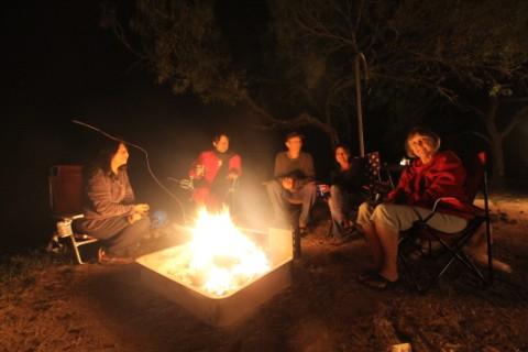 campfire at garner state park tx