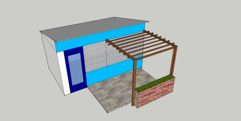 wimberley arbor sketchup 3d model
