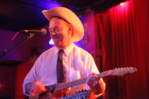 junior brown smiles at the continental club austin tx sunday nights @7:30