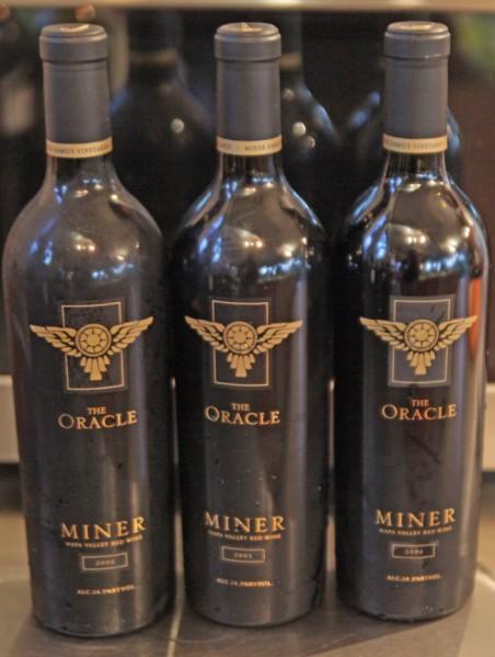vertical tasting of miner wines oracle 2004 2005 2006