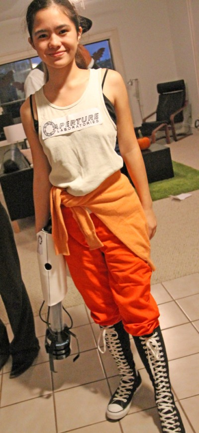 chell portal 2 aperture science halloween costume
