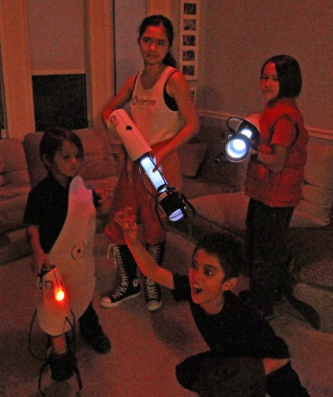 portal 2 halloween costumes and portal guns
