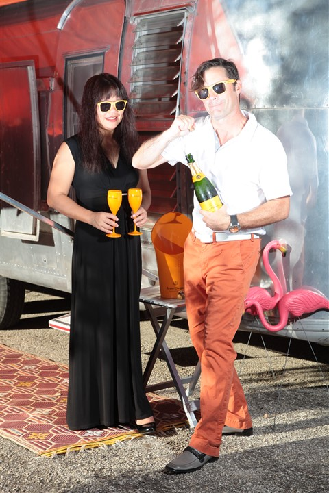 popping that cork veuve clicquot camping airstream canyon of the eagles resort