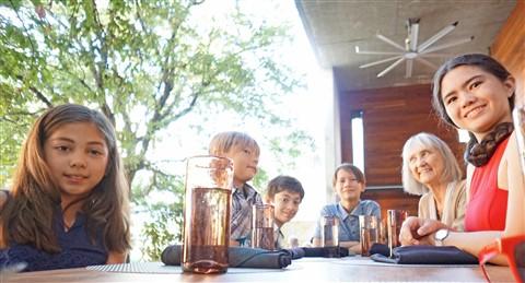 kids happy hour at trace austin w hotel