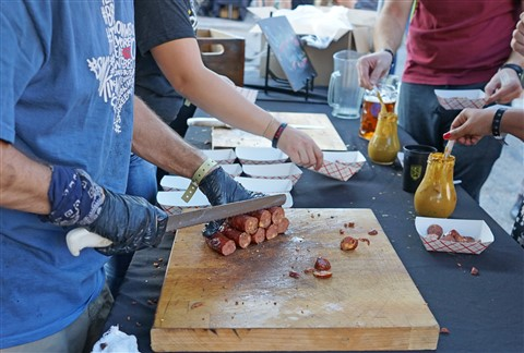 sausage at austoberfest 2015 austin octoberfest