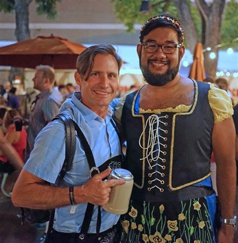 cute couple austin austoberfest 2015 guy in dirndl dress
