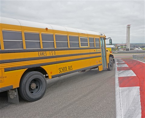 eanes school bus at cota austin