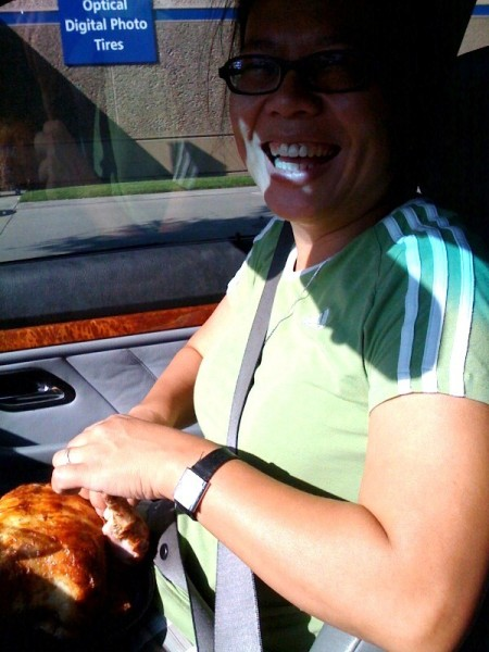 yard bird in the car