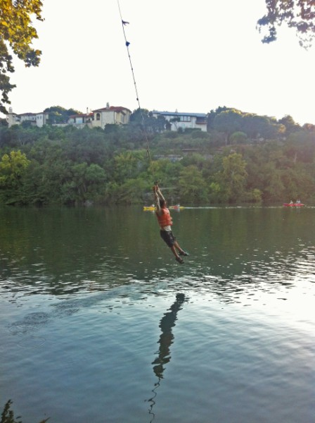 rope swing austin ladybird lake red bud island