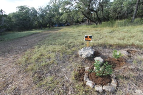 no trespassing landscaping wimberley