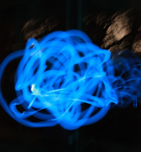 glowstick light painting
