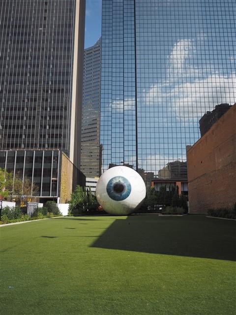 dallas big eye sculpture nasher