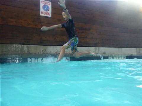 aloft dallas pool party walk on water
