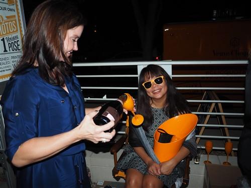 veuve clicquot mail truck austin champagne bucket orange