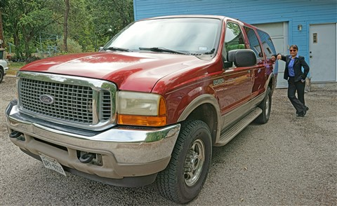 7.3 liter diesel ford excursion tow vehicle