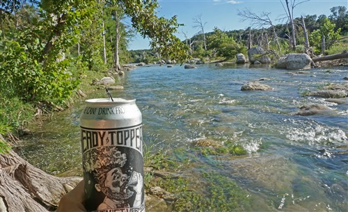 heady topper in the blanco river wimberley texas