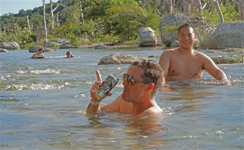 in the blanco river with my alchemist heady topper