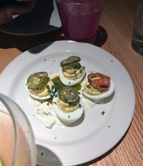 deiviled eggs at caroline austin spg