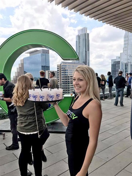 chive tv sxsw westin rooftop pool waitress drinks